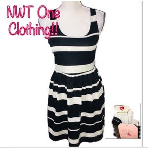 • ONE CLOTHING | NWT | Striped Mini Dress •